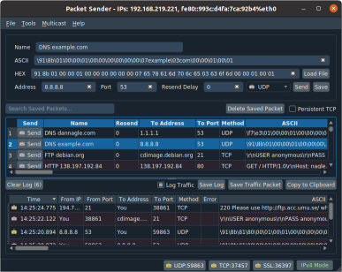 Packet Sender - Free utility to for sending / receiving of