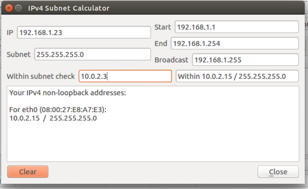 Packet Sender Subnet Calc